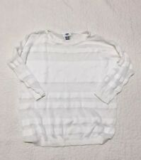 old navy womens white see through sheer sweater XL