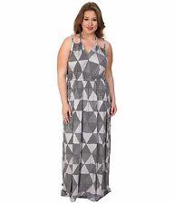 Rachel Pally Plus Size 1X Kiku Dress White Label Print Cement Hexagon @ $282 NWT