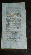 New listing Very pretty,colorful Abc Sampler signed and dated