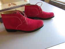 Hush Puppies -  Nineteen Fifty Eight  Red Suede  Ankle Boots  Sz  6 ½