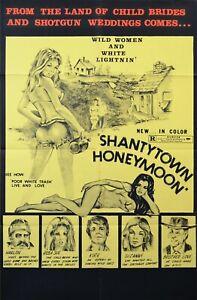 SHANTYTOWN HONEYMOON 1971  Original 1- SHEET Movie Poster
