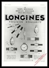 1933 LONGINES POCKET WRISTWATCH ADVERT Original Art Deco French Ad / Print FM138