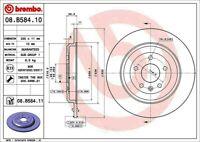 Disc Brake Rotor-Premium UV Coated OE Equivalent Rotor Rear Brembo 08.B584.11