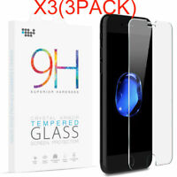 3 PACK For Apple iPhone 8 Plus 9H Premium Real Tempered Glass Screen Protector
