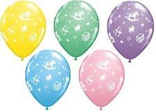 "New Baby's Nursery Baby Shower Qualatex Latex 11"" Balloons x 5"
