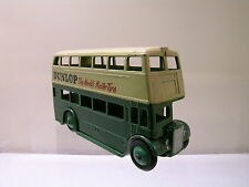 DINKY TOYS UK 29C/290 LEYLAND TITAN DOUBLE DECKER BUS GREEN/CREAM 1954 1:43
