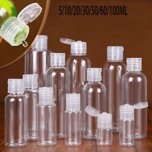 5-100ml Liquid Shampoo Travel Lotion Bottle Makeup Container Jar with Flip Caps