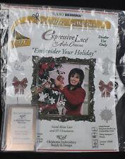 Studio Bernina Embroidery Card Artista Expressive Lace Holiday Marie Osmond #797