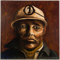 Beverly Madley - Signed 20th Century Acrylic, Welsh Miner