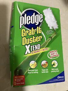 Pledge Grab It Duster Starter Pack - (1 Duster Handle + 2 Duster Head )