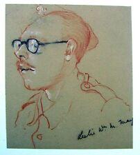 Ritratto Militare Seconda guerra mondiale privato Leslie possono GESSO Robert Lyon 1941