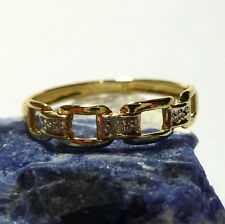 Ladies Ring 50 (15,9 mm Ø) 333/8K Gold with diamond 0.005 Ct