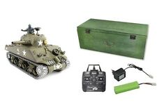 RC tanques u.s.m4a3 Sherman humo Sound 2.4ghz cadenas de metal/Metal engranaje 23055