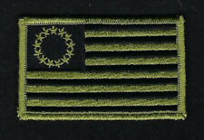 BETSY ROSS 1776 TACTICAL OD GREEN FLAG HAT PATCH IRON ON US FLAG USA PATRIOT