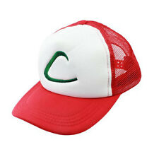HOT NEW Ash Ketchum Pokemon GO Cap Embroidery Trucker Hat Cosplay Costume Gifts