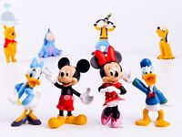 8pcs Disney Mickey Mouse Donald Duck Dolls Resin Character Figures Toy Miniature