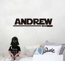 Star Wars Customize Name Wall Sticker | Light Saber Personalized Boy Room Decal