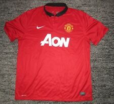 Rare Manchester United 2013 2014 Home Shirt Jersey Adult M