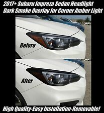 2017 + Subaru Impreza Sedan Head Light Dark Smoke Overlay for Corner Amber Lig