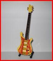 MOTORHEAD LEMMY - GUITARE MINIATURE ! Collection Basse Oak Leaf Heavy Metal Rock