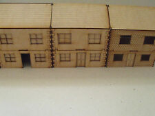 Le case a Due Piani (Conf. da 4) 28mm Scala-legno paesaggio Terrain Bullone azione WW2