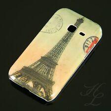 Samsung Galaxy Ace Duos S6802 Hard Case Handy Hülle Cover Etui Eiffelturm Bunt