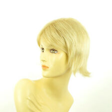 Perruque femme courte blond doré méché blond très clair  MARGOT 24BT613