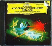 KARAJAN: STRAUSS Also sprach Zarathustra Don Juan DG CD Berliner Philharmoniker