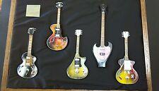 On sale, great price! Handmade Mini Wandre Guitars, 6 set w/Display Case & Stand