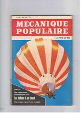 MECANIQUE POPULAIRE N°204 1963  ballons a air chaud papillons ski nautique