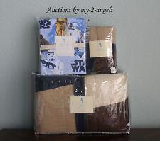 New Pottery Barn Kids Joshua Patchwork/Star Wars Twin Quilt+Sham+Sheet Set Nla