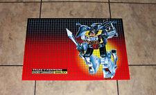 "Transformers G1 Grimlock 24"" box art poster custom art print autobots 80's"