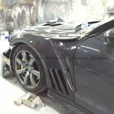 For Nissan GTR R35 EPA FRP Front  Vented Fender With Carbon Louver Fin Kits