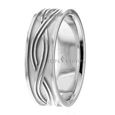 Bands Rings Womens Celtic Wave Rings Mens 18K Solid Yellow Gold Celtic Wedding