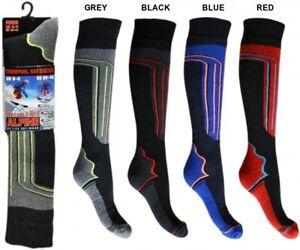 4 Pairs Mens Soft Thermal Padded Long Hose Winter Ski Socks Hiking Snowboarding