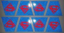 SUPERMAN FIREFIGHTER FIRE HELMET 8 PACK TETRAHEDRONS TRAPEZOID TETS CUSTOM