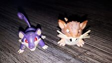 Official Tomy Pokemon Ratta & Ratticate Figurines