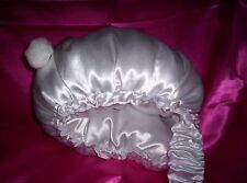 CUSTOM MADE WILL FIT ALL WOMENS MENS FUN BUNNY SATIN WADDLE WHITE PANTY DAYTIME