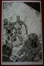 Terminator - 11x17 B&W Collecor Print By Arthur Adams - Dark Horse Comics