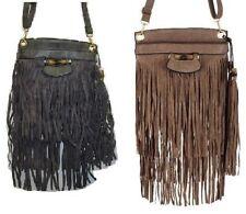 Magnetic Snap Suede Messenger & Cross Body Handbags