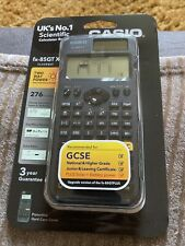 More details for casio fx-85 gtx gcse & higher grade scientific calculator  276 functions - black