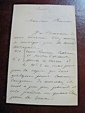 ANTONIO BERNARDI Autographe Signé 1875 COMPOSITEUR CORSE ORIENTALISME à BUSSINE