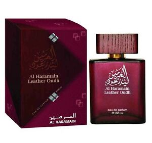 Leather Oudh 100ml EDP  Sweet  Raspberry Jasmine Woody Perfume Spray Al Haramain