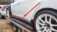 Varis Style Side Skirts + CARBON Skirt Extensions for Mitsubishi Lancer Evo X v8
