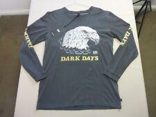 04e2b10d 098 MENS EX-COND LEE DARK DAYS VINTAGE BLACK PRINT L/S T-