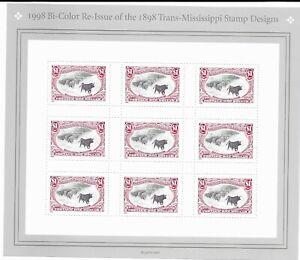 US Stamps Scott #3210 Trans-Mississippi (9) $1 Stamp Designs - MNH