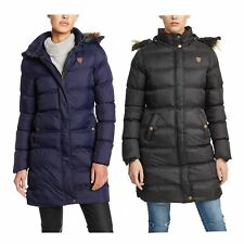 New Womens Brave Soul Designer Long Jacket Quilted Puffer Padded Hooded Coat
