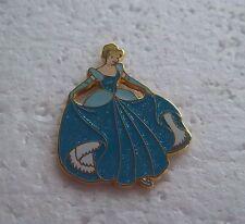 *~*Disney Cinderella Blue Glitter Sparkle Dress Pin*~*