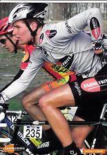 CYCLISME carte cycliste GERBEN LOWIK équipe FARMFRITES
