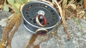 FOR A HARDY ST. GEORGE REEL - RED AGATE IN GERMAN SILVER BEZEL